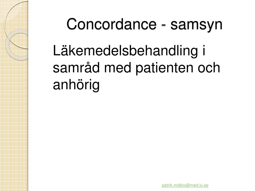 Concordance -