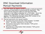 ipac download information manual payments