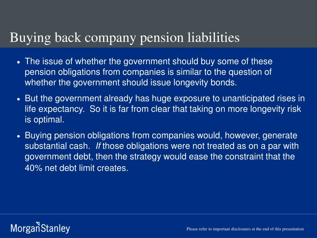 Buying back company pension liabilities