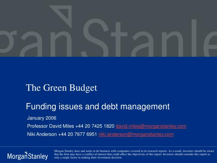 The green budget