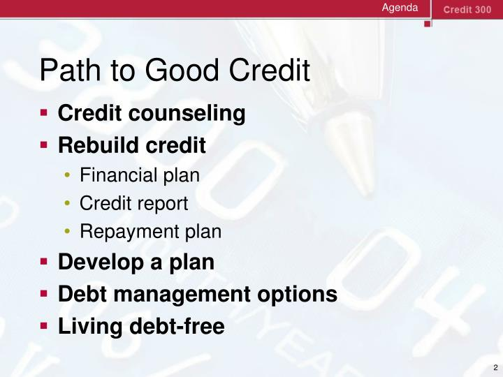 Path to good credit