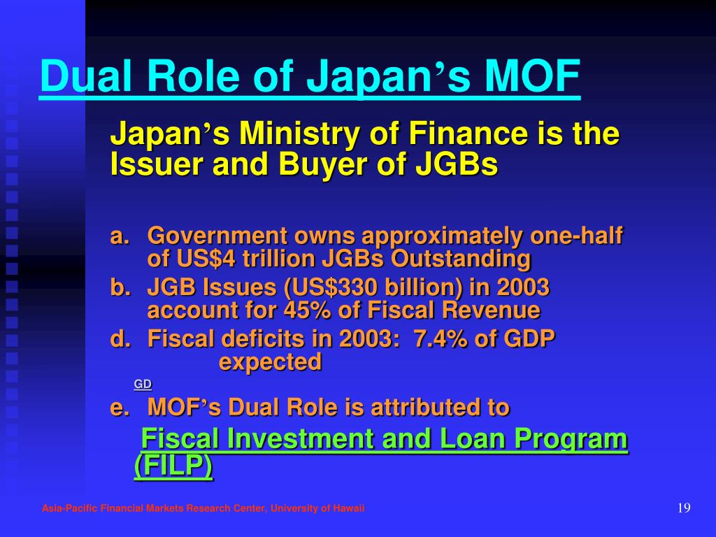 Dual Role of Japan