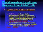 fiscal investment and loan program after 4 1 2001 ii