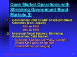 open market operations with shrinking government bond markets i