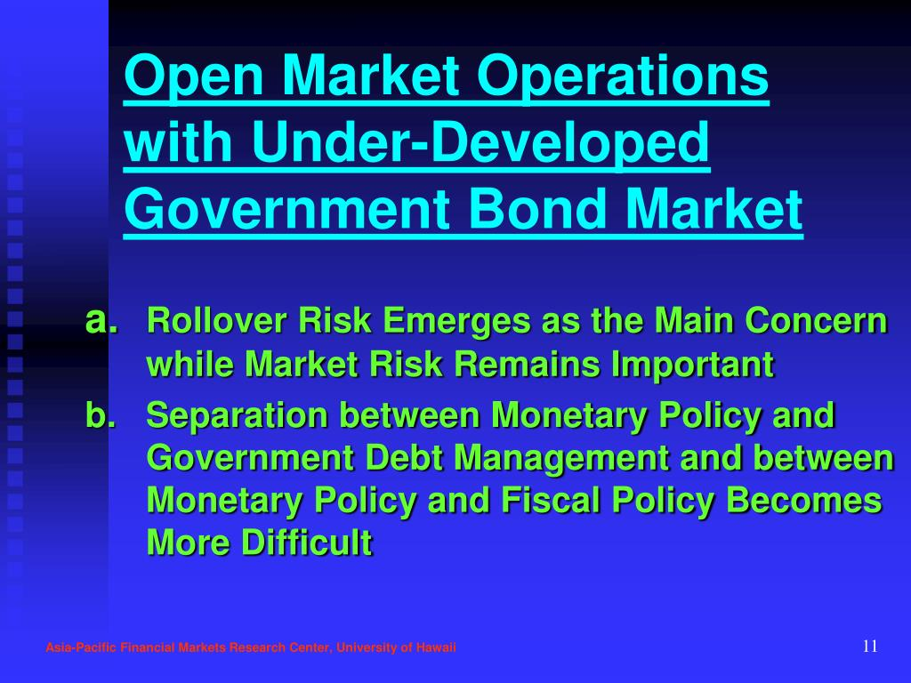 Open Market Operations with Under-Developed Government Bond Market