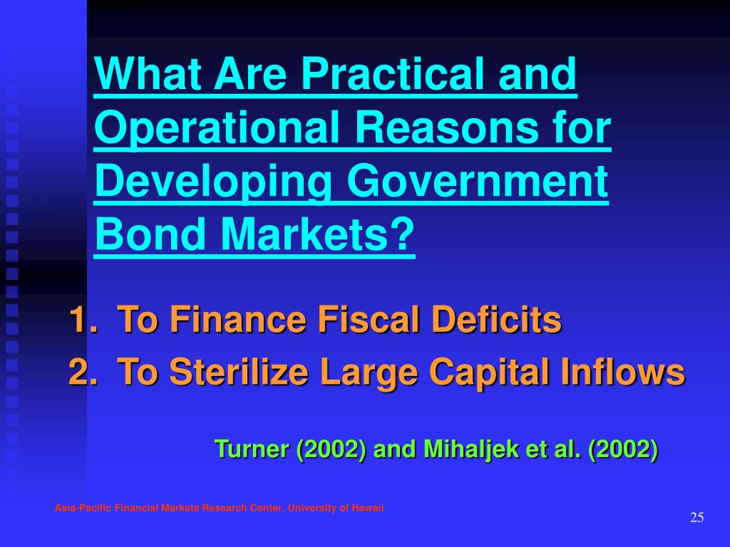 What Are Practical and Operational Reasons for Developing Government Bond Markets?