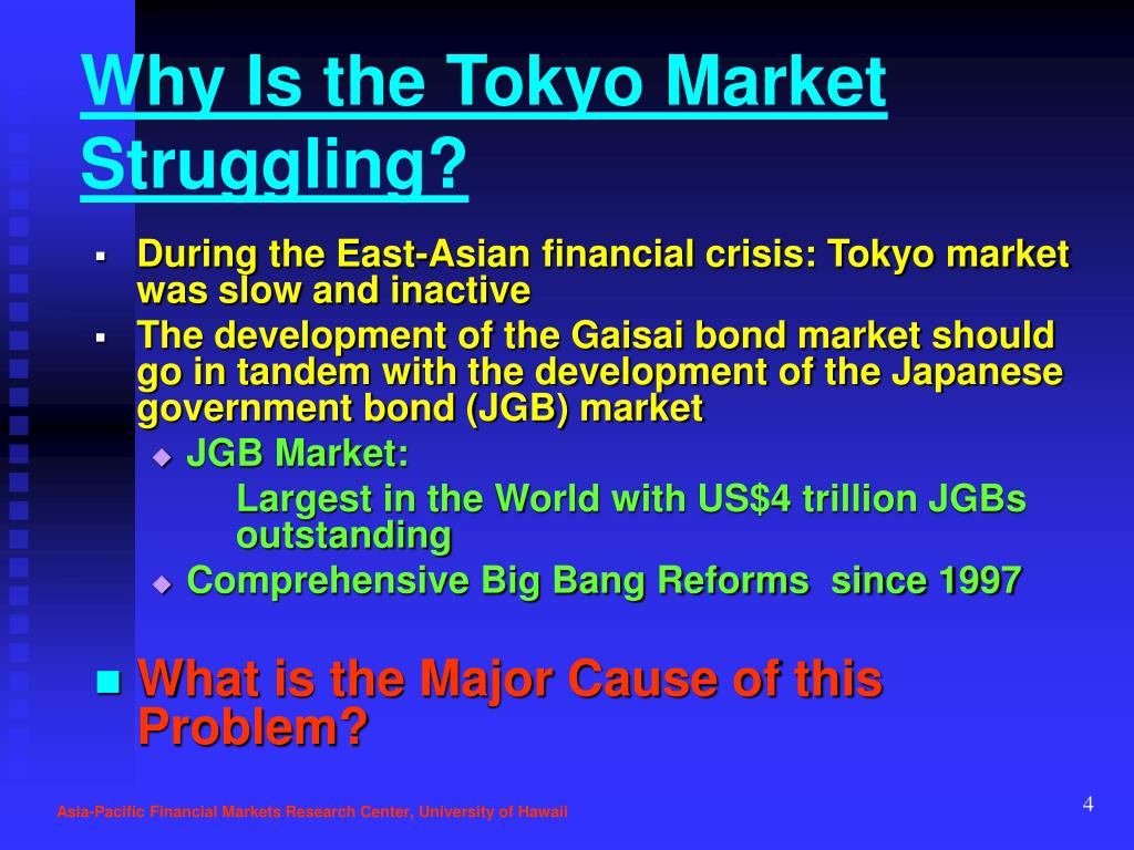 Why Is the Tokyo Market  Struggling?