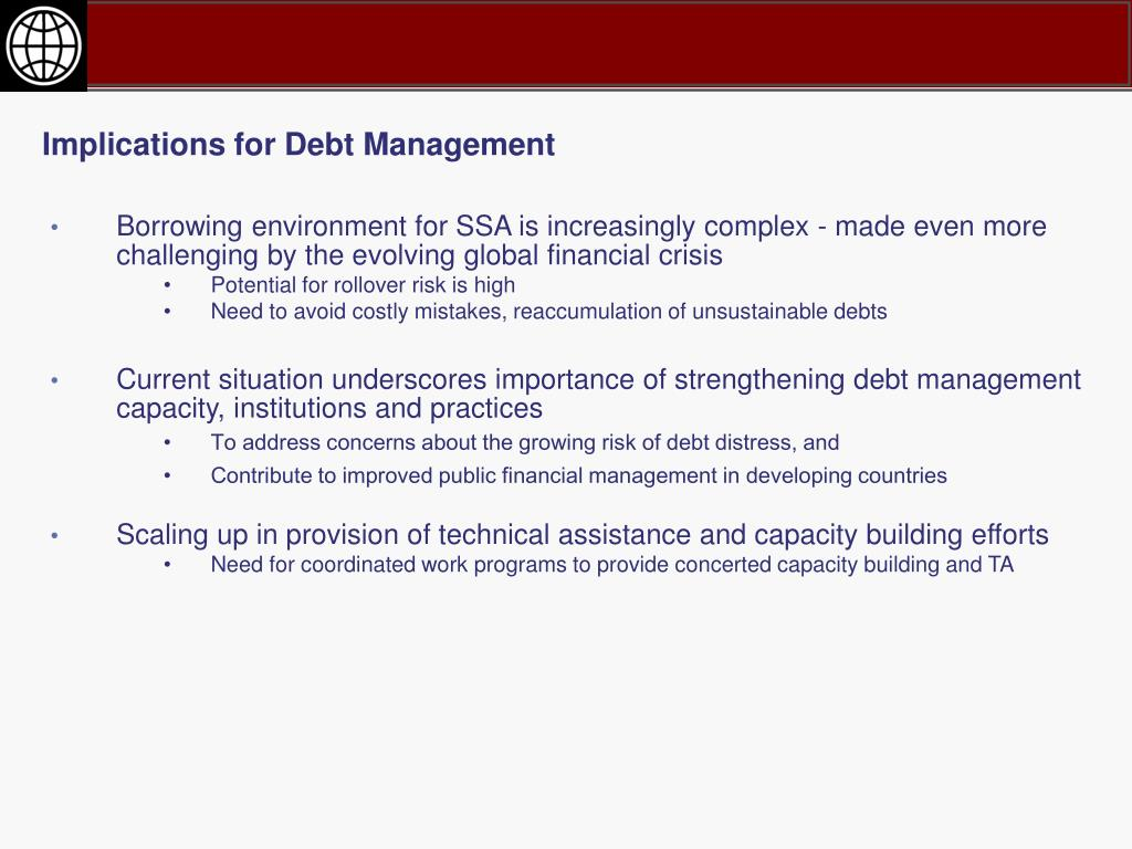 Implications for Debt Management