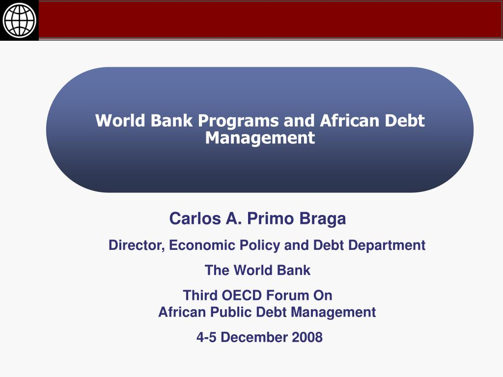 World Bank Programs and African Debt Management