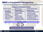 mma s investment perspective