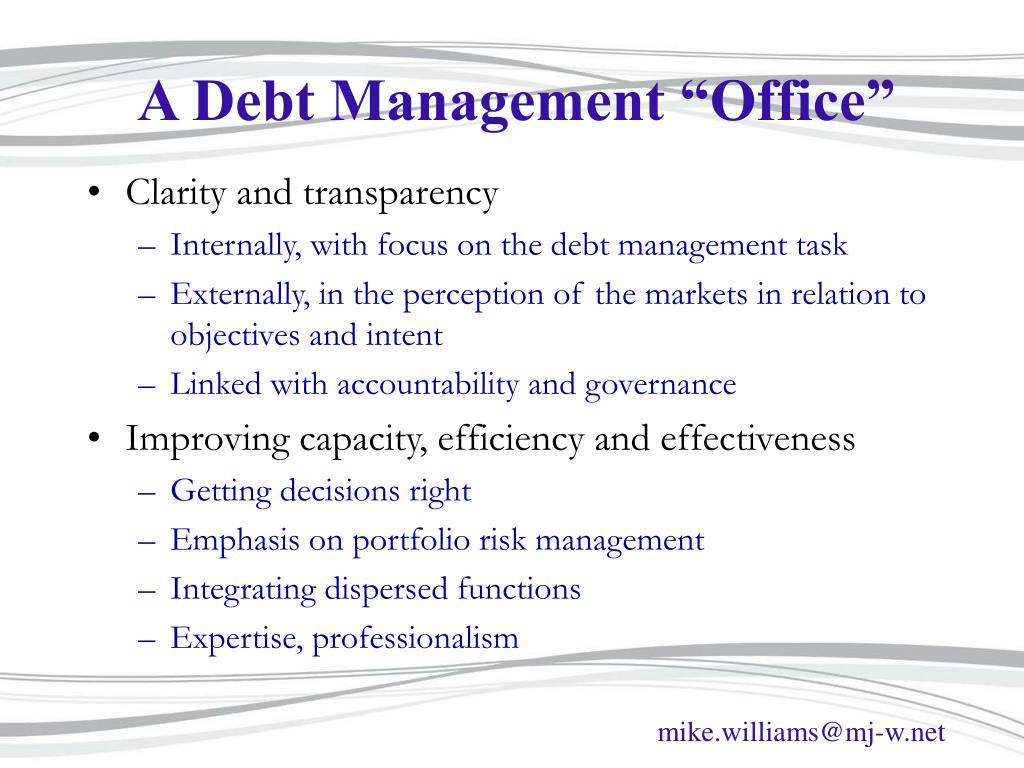 """A Debt Management """"Office"""""""
