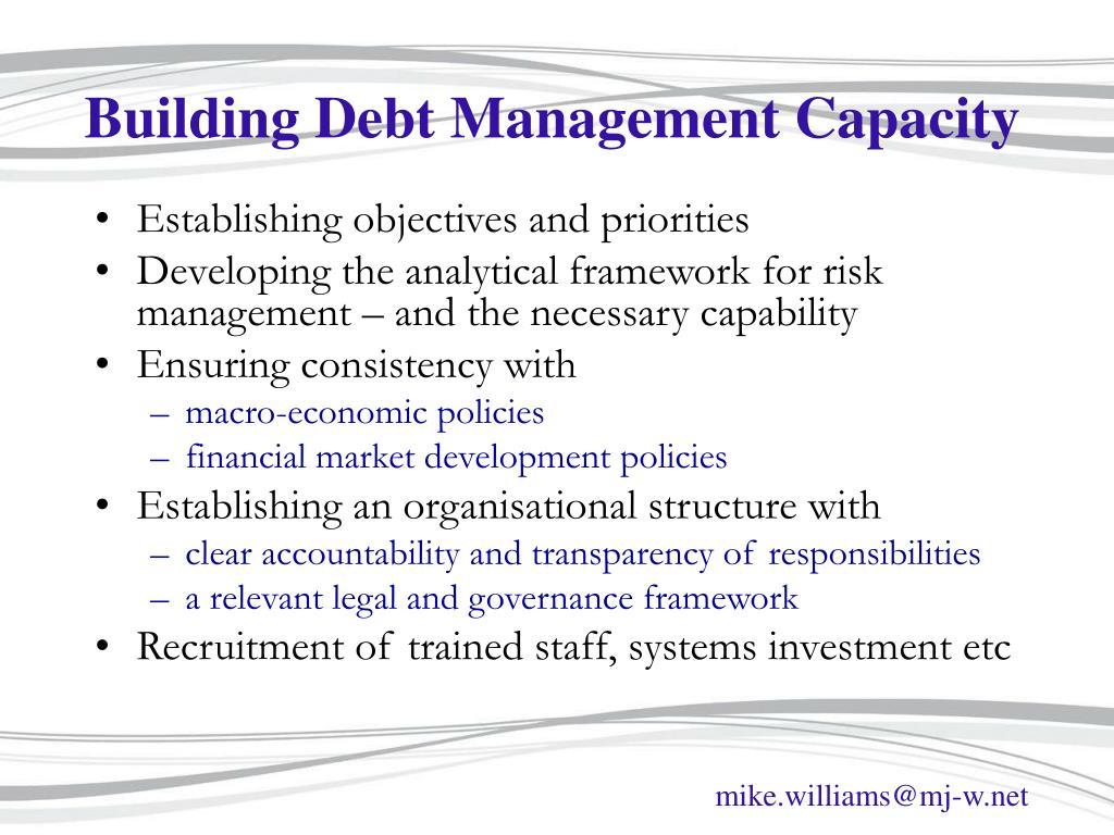 Building Debt Management Capacity