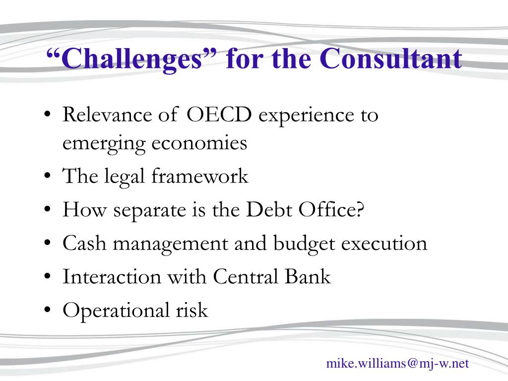 """Challenges"" for the Consultant"
