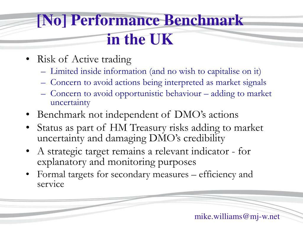 [No] Performance Benchmark in the UK