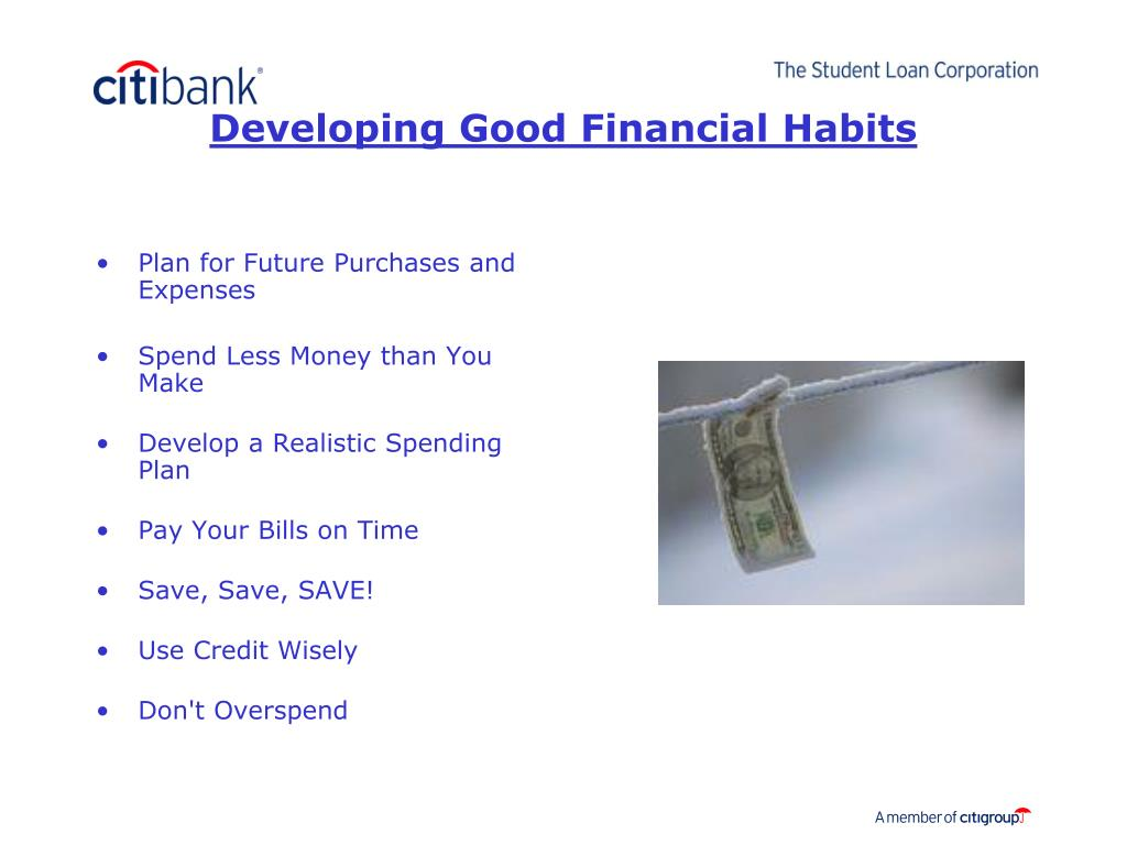 Developing Good Financial Habits