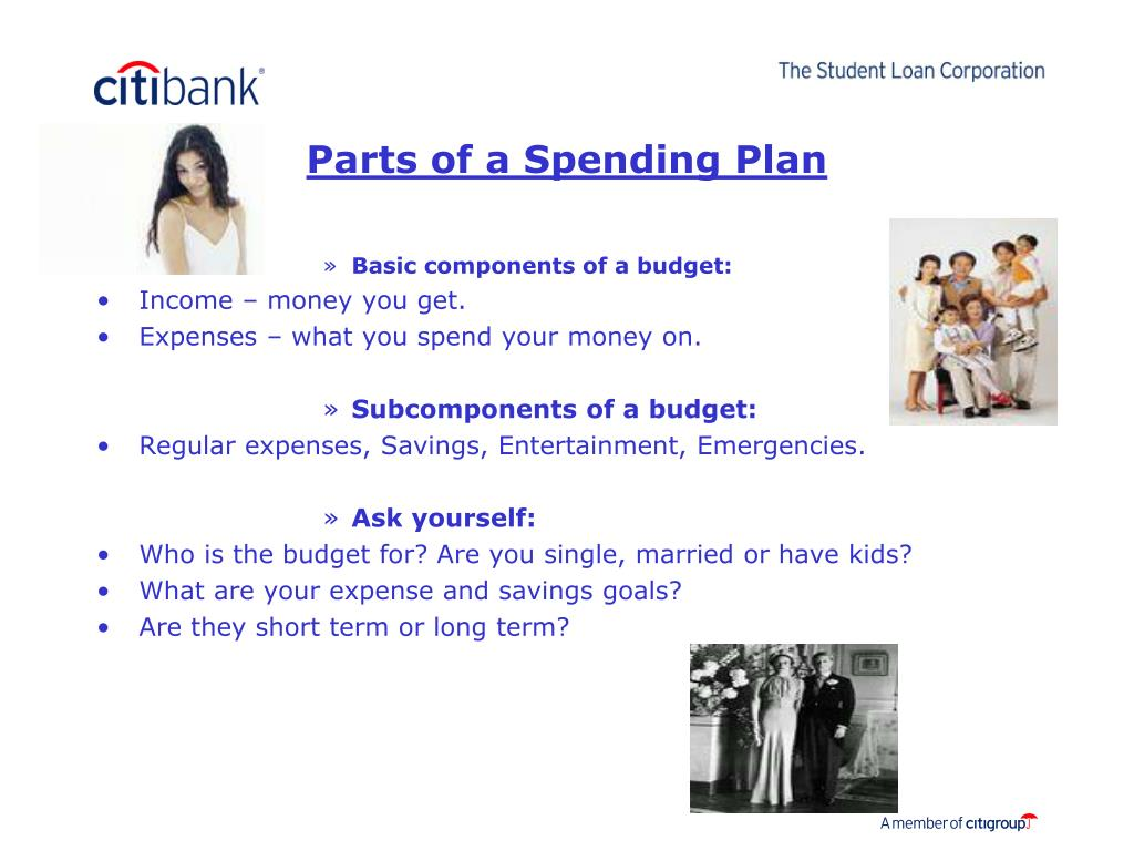 Parts of a Spending Plan