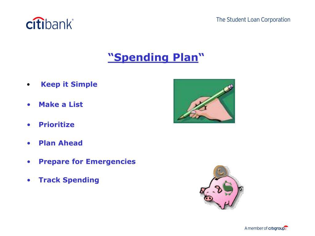 """Spending Plan"