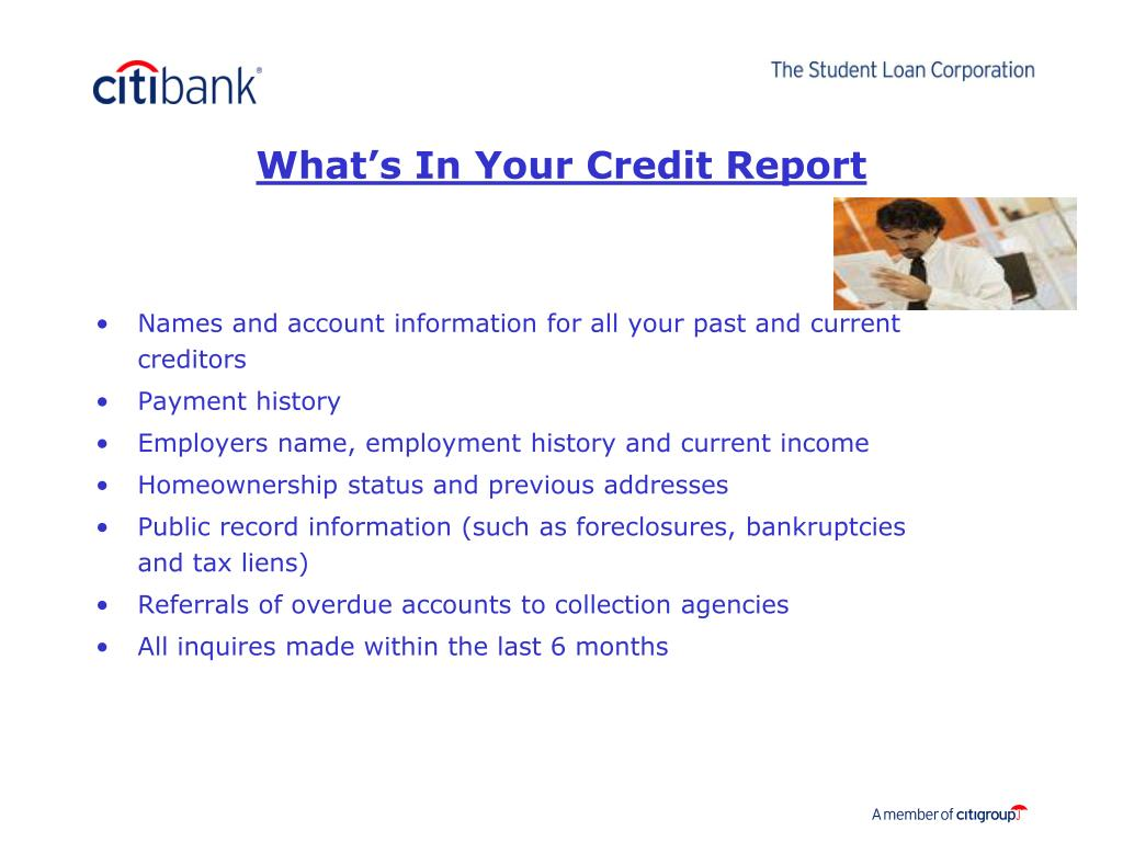 What's In Your Credit Report