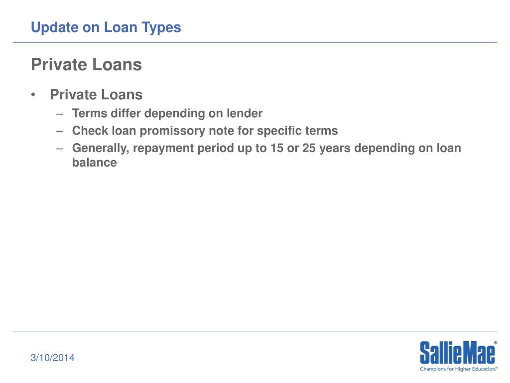 Update on Loan Types