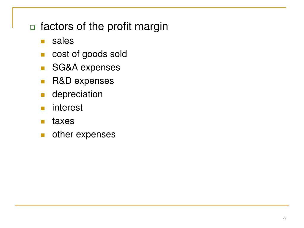 factors of the profit margin