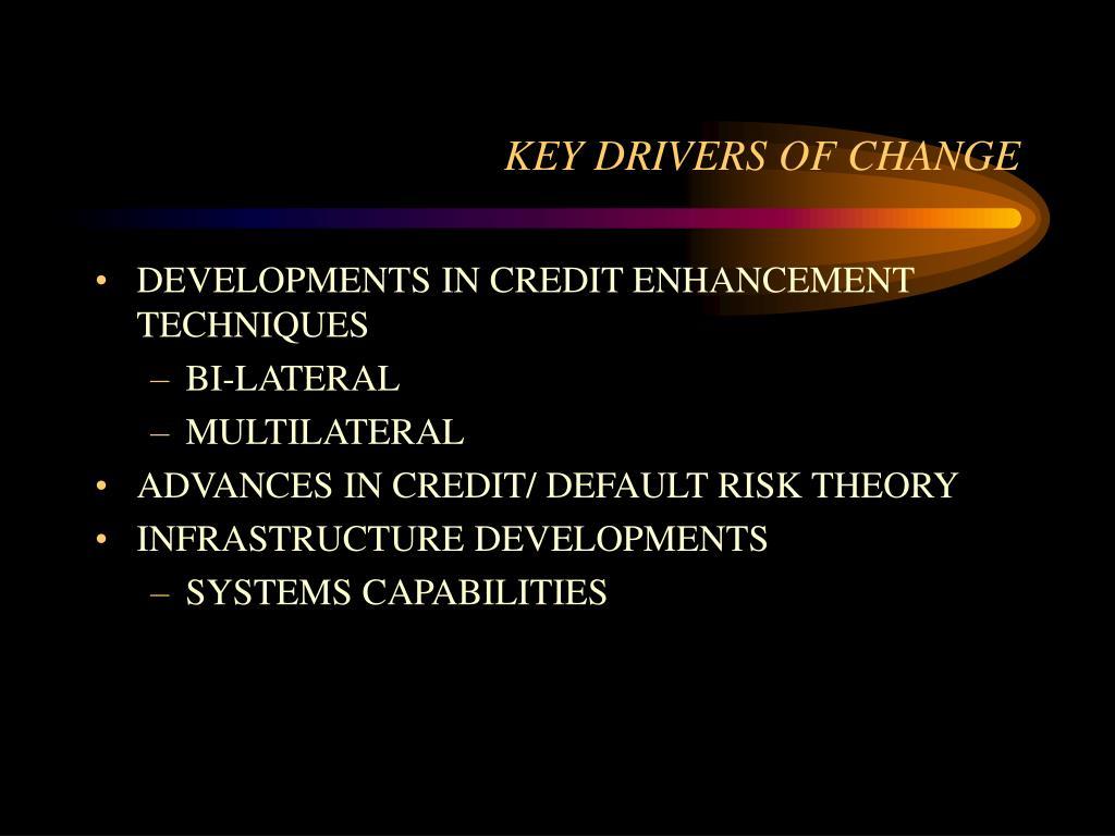 DEVELOPMENTS IN CREDIT ENHANCEMENT TECHNIQUES