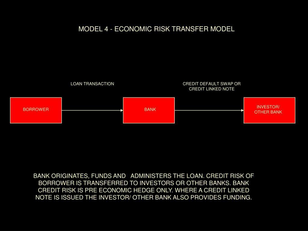 MODEL 4 - ECONOMIC RISK TRANSFER MODEL