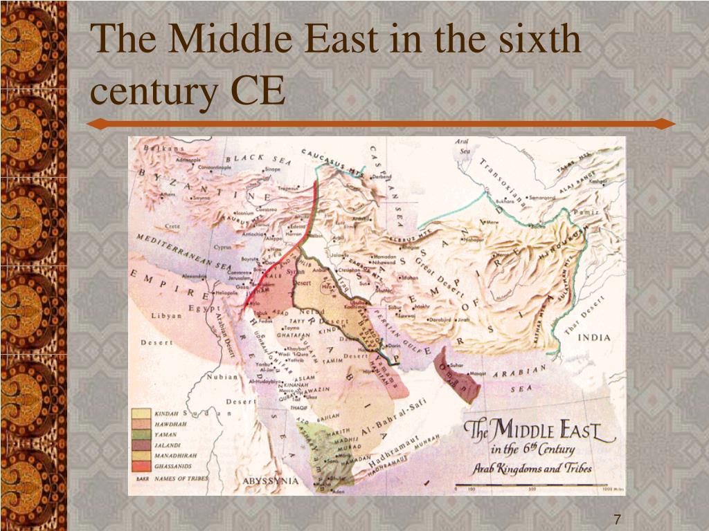 The Middle East in the sixth century CE