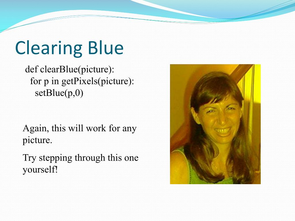 Clearing Blue