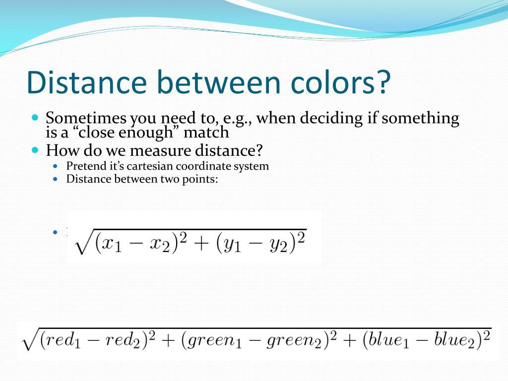 Distance between colors?
