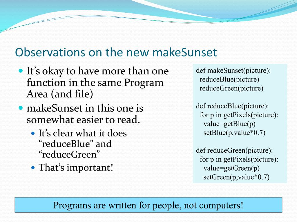 Observations on the new makeSunset