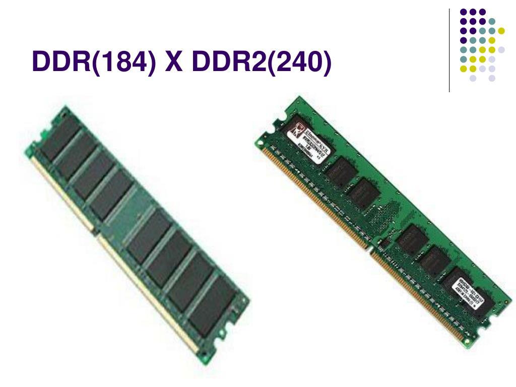 DDR(184) X DDR2(240)