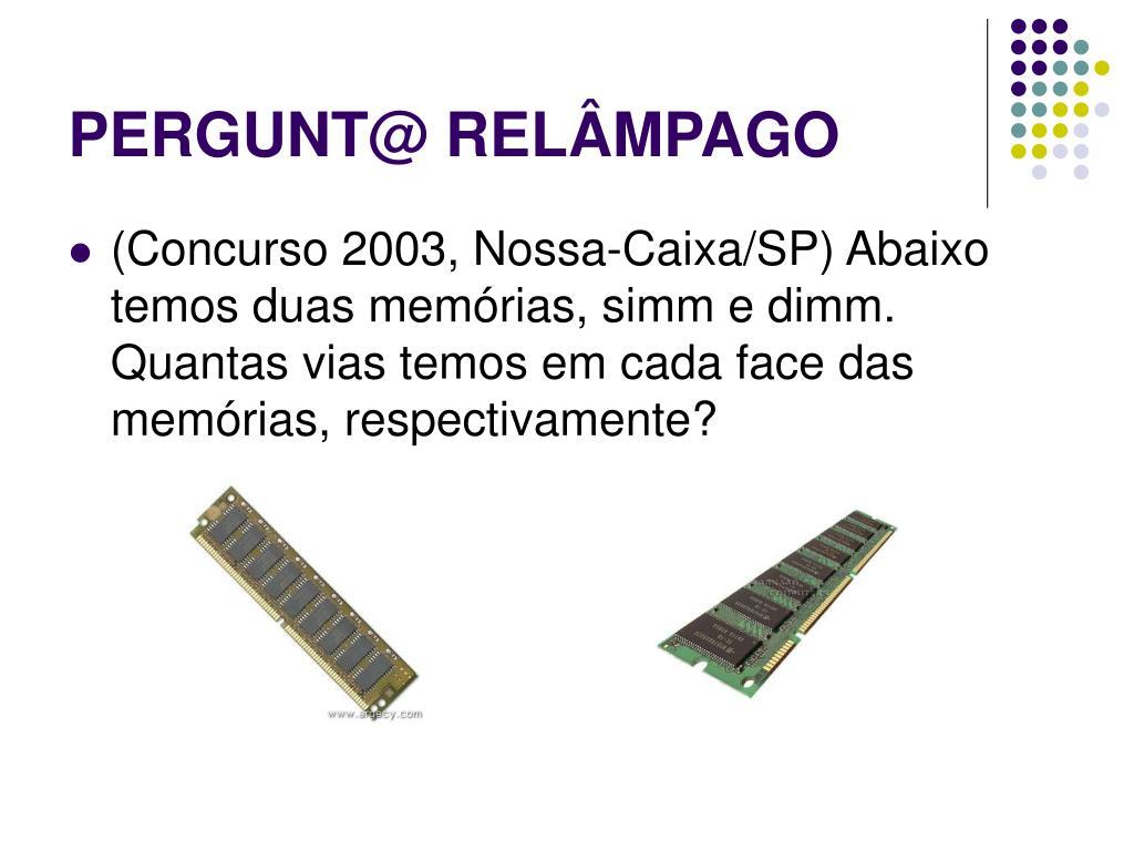 PERGUNT@ RELÂMPAGO