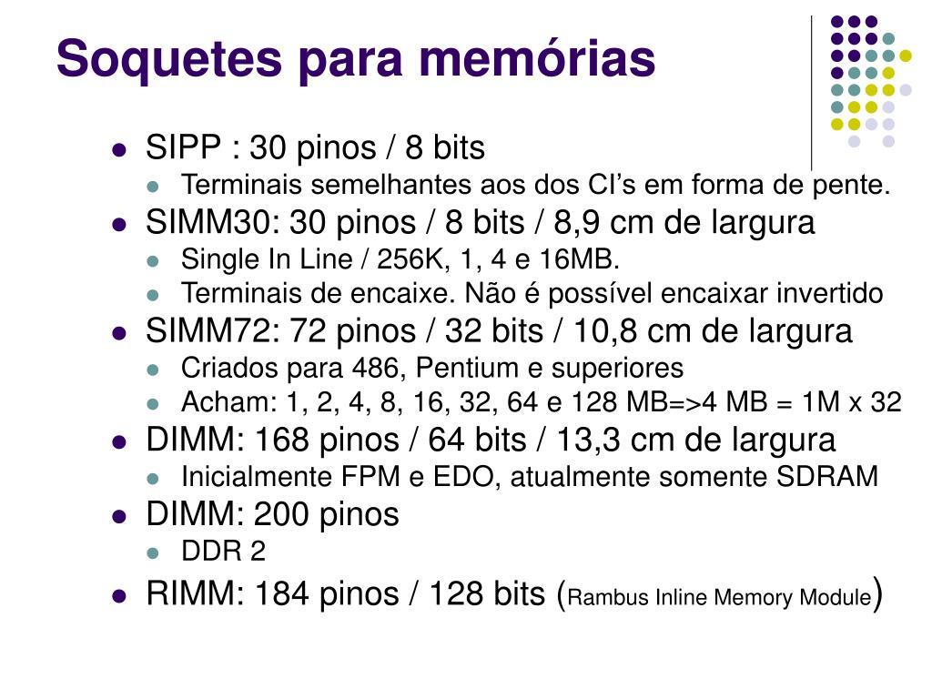 Soquetes para memórias