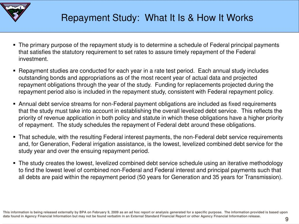 Repayment Study:  What It Is & How It Works