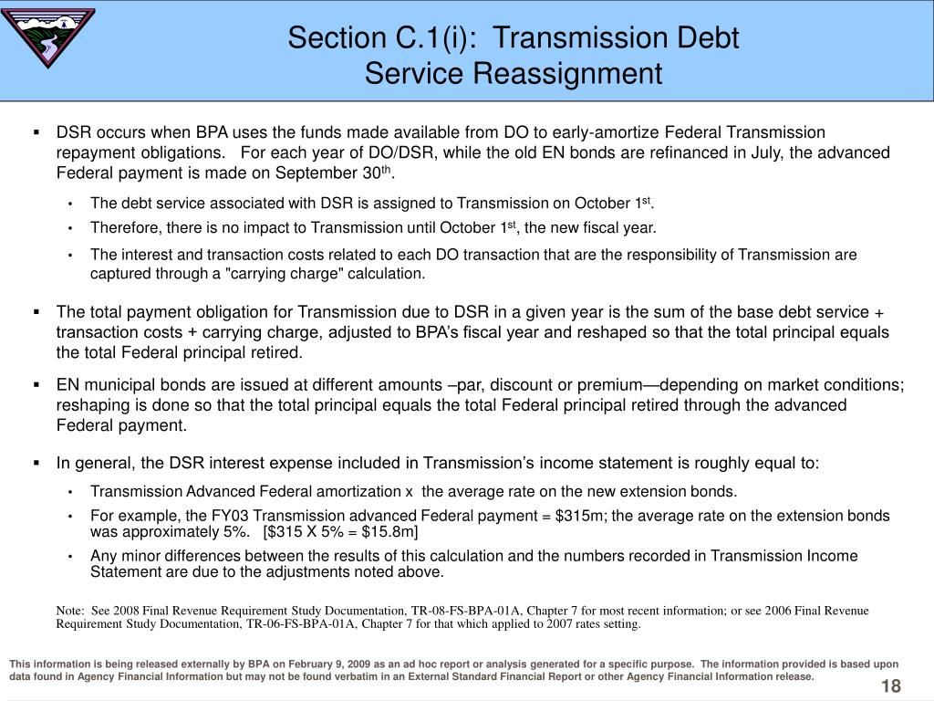 Section C.1(i):  Transmission Debt