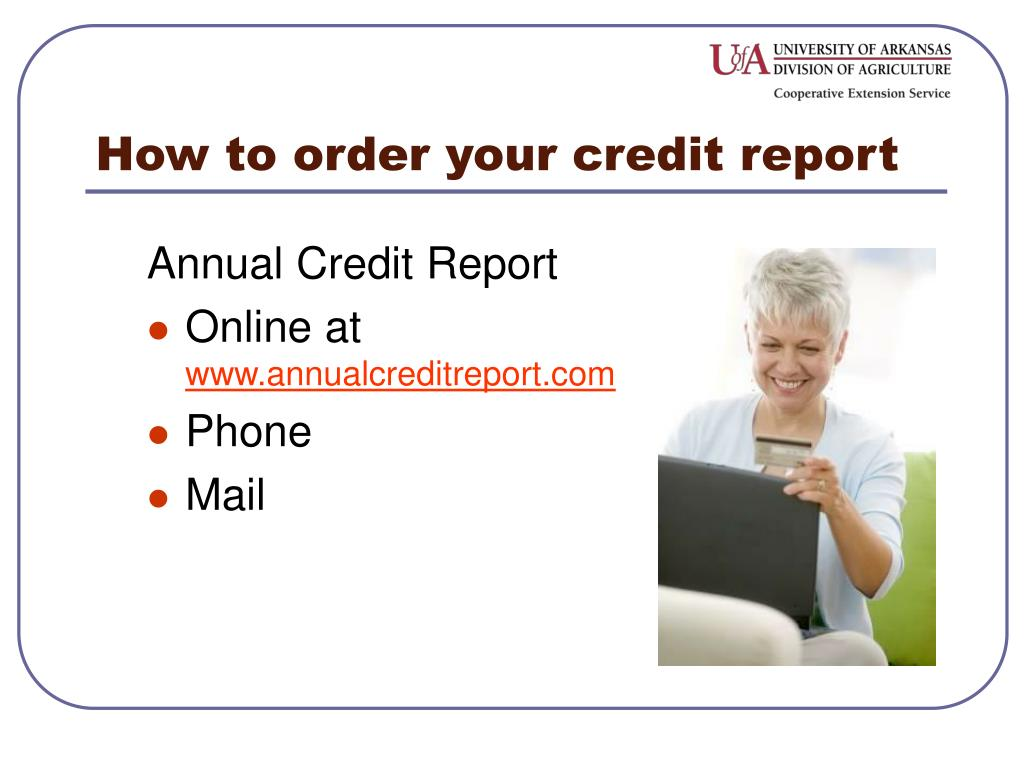 How to order your credit report