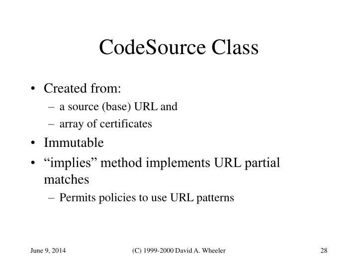 CodeSource Class