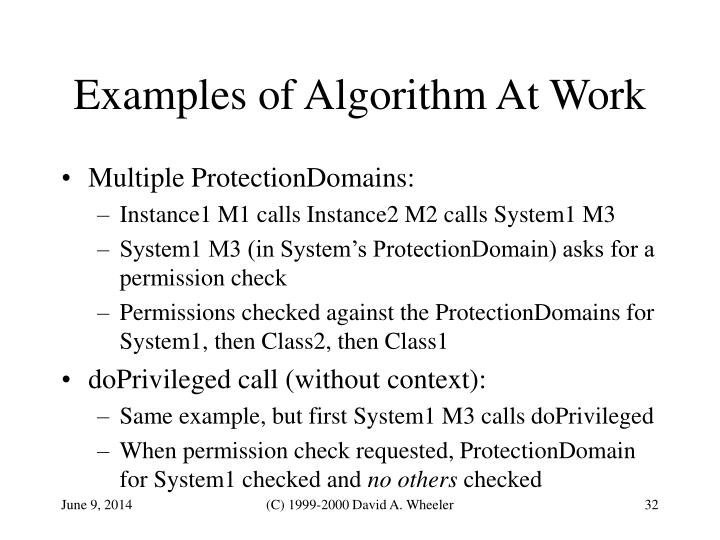 Examples of Algorithm At Work