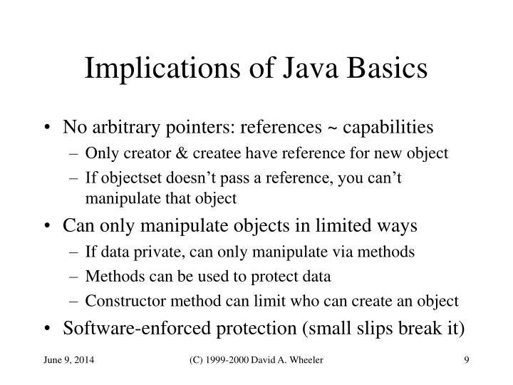 Implications of Java Basics