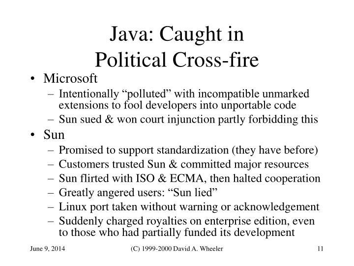 Java: Caught in