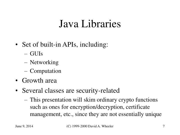 Java Libraries