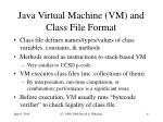 java virtual machine vm and class file format