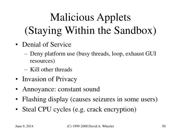 Malicious Applets