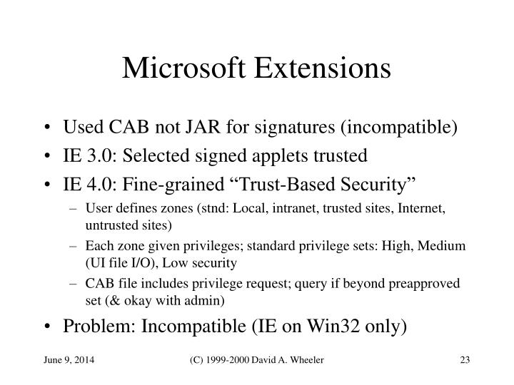 Microsoft Extensions