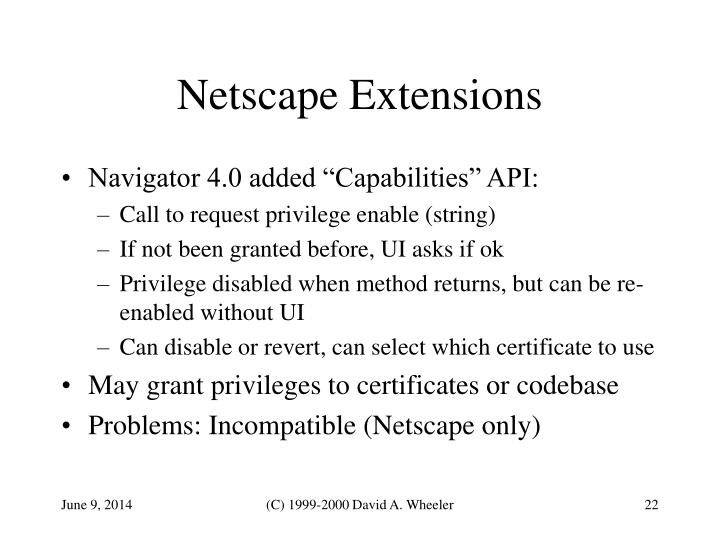 Netscape Extensions