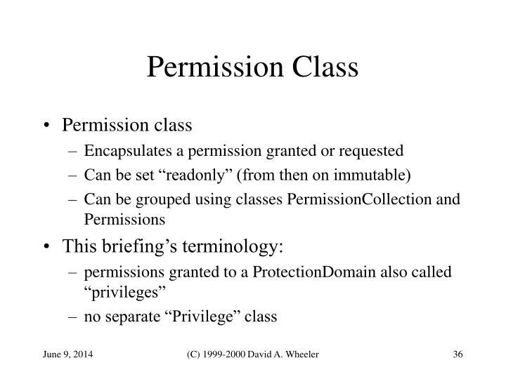 Permission Class
