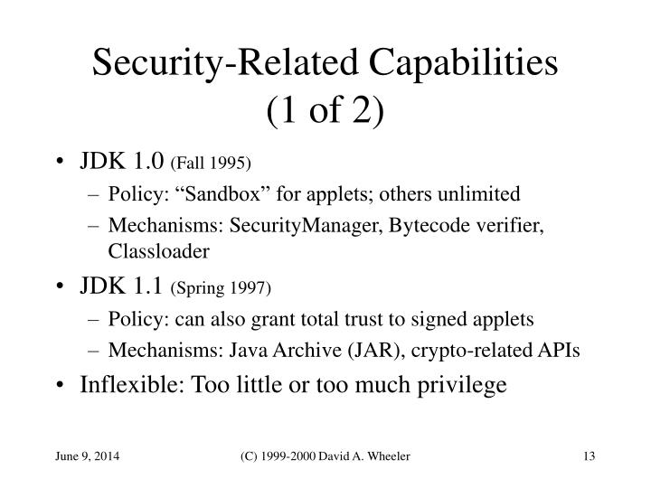 Security-Related Capabilities