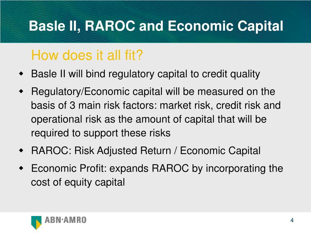 Basle II, RAROC and Economic Capital