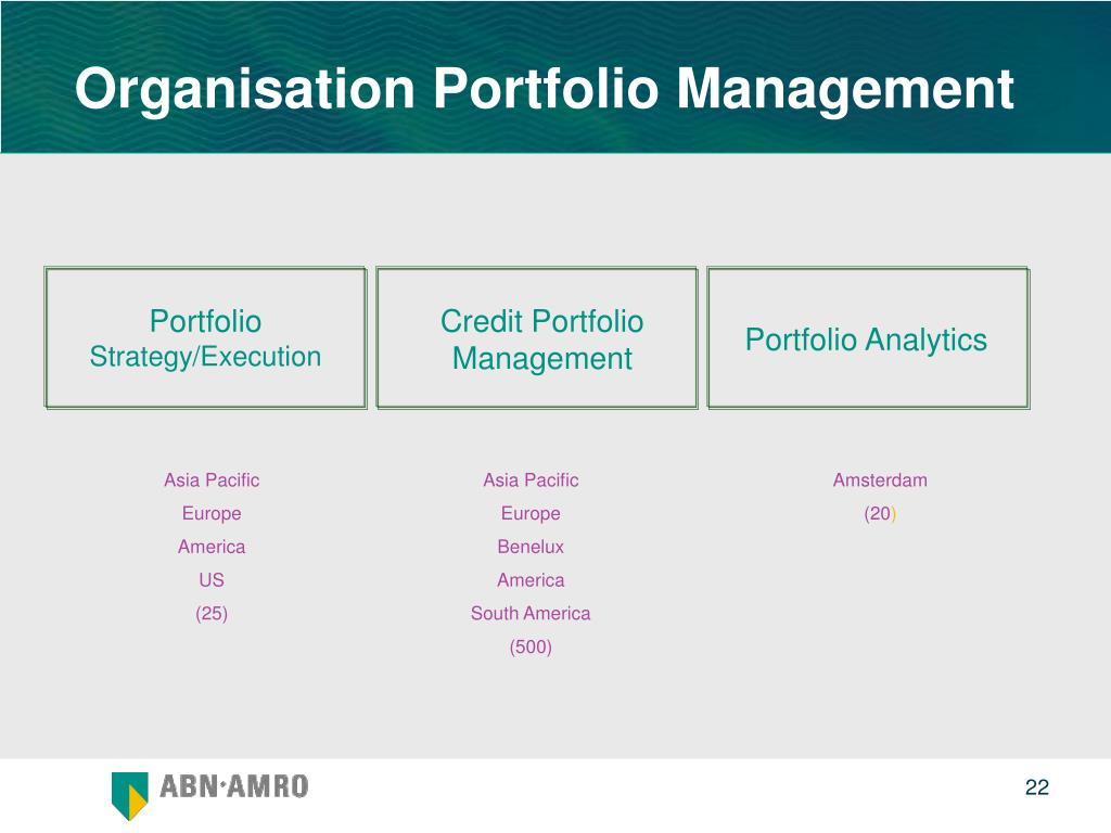 Organisation Portfolio Management
