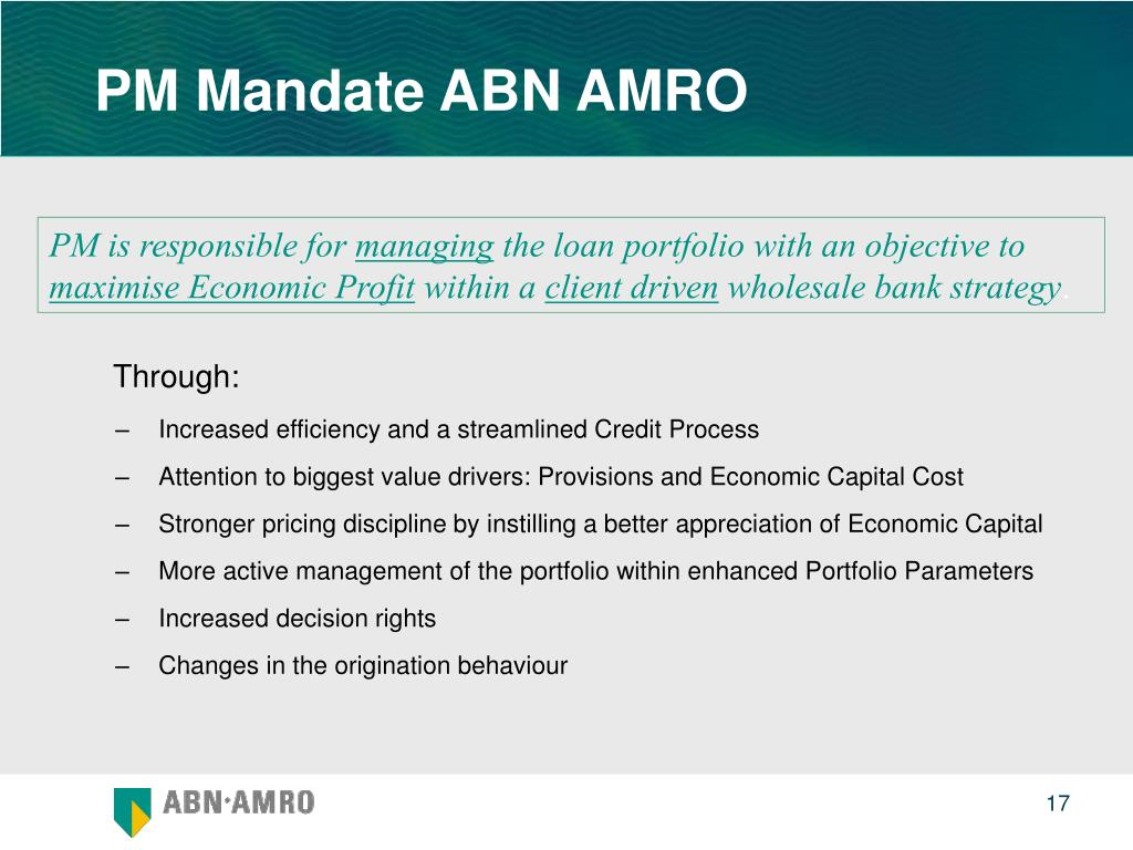 PM Mandate ABN AMRO